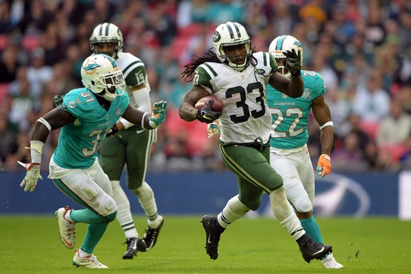 Chris Ivory Dominates, as Jets Hand Dolphins Loss in London