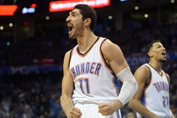 Thunder C Enes Kanter Out Indefinitely After Breaking Forearm