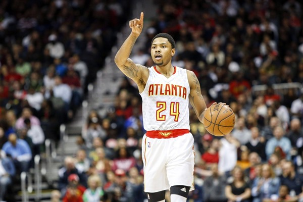 Hawks F Kent Bazemore Out with Bone Bruise to Right Knee