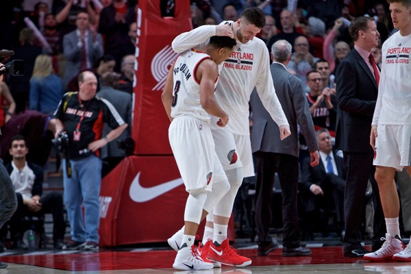 Injury Update: Blazers C Jusuf Nurkic Suffers Fracture in Right Leg