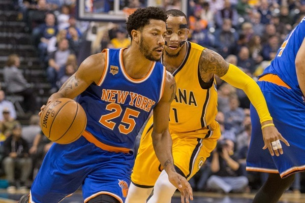 Knicks G Derrick  Rose Out For Season with Torn Meniscus