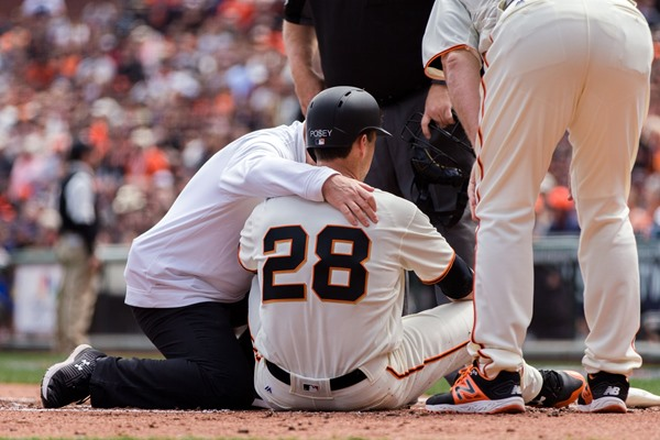Injury Alert: Giants C Buster Posey Exits Game After Being Hit in the Head
