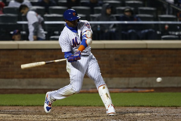 Mets OF Yoenis Cespedes Exits with Hamstring Cramp