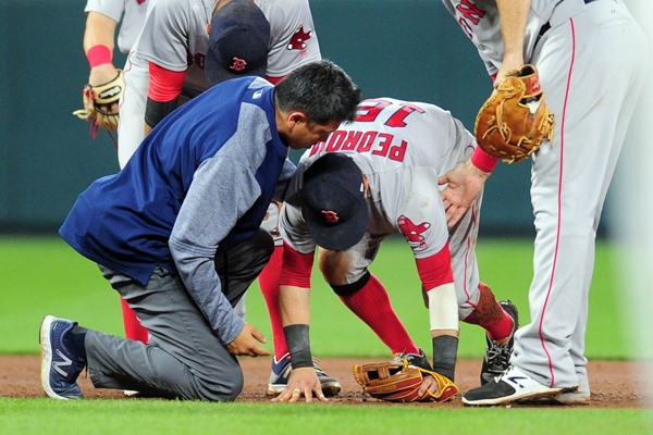 Red Sox 2B Dustin Pedroia Day-to-Day with Ankle, Knee Injury