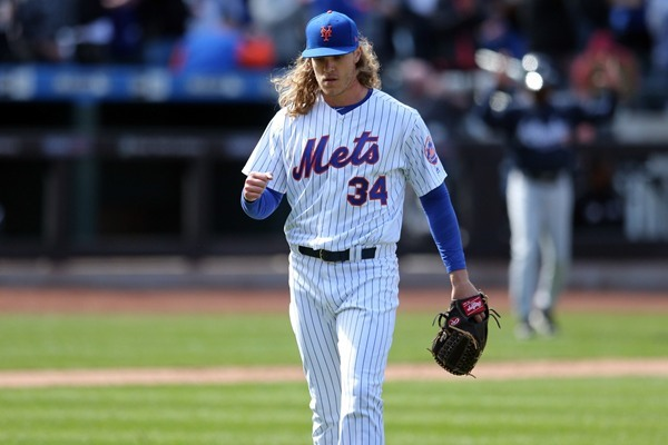 Mets SP Noah Syndergaard Exits Game with Possible LAT Injury