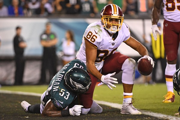 Fantasy Impact: Jordan Reed Ruled Out for Week 10