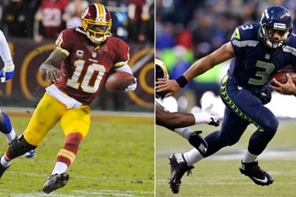 NFL Playoff Showdown: RGIII vs. Russell Wilson