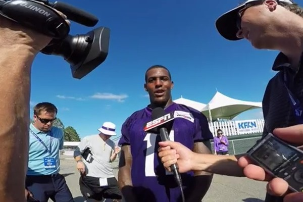 Interview with Minnesota Vikings WR Mike Wallace